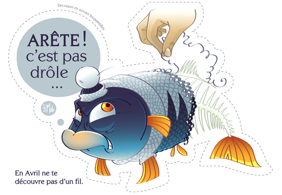 "Image : Poisson d'avril ""Poisson frileux"" de Little Mob"