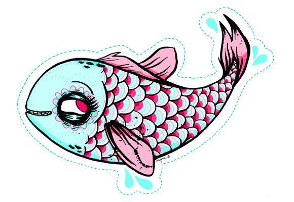 "Image : Poisson d'avil ""Funny Fish"" de Zombie Girls House"