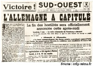 Image : Une journal 8 mai 1945