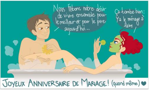 IMAGE - Carte Anniversaire de Mariage