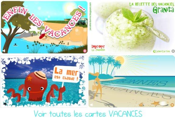 IMAGE : cartes vacances