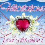 Carte MARIAGE : Félicitez-les pour leur union!