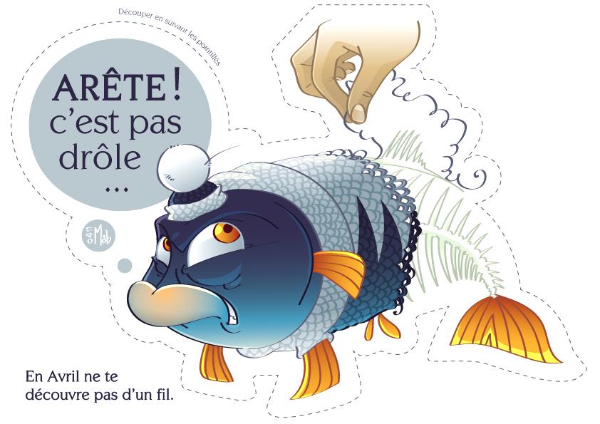 14 poissons davril  dcouper  Le CyberMag de Marjorie