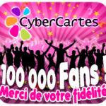 100 000 fans sur Facebook ! MERCI !