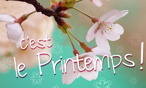 IMAGE : Carte Printemps
